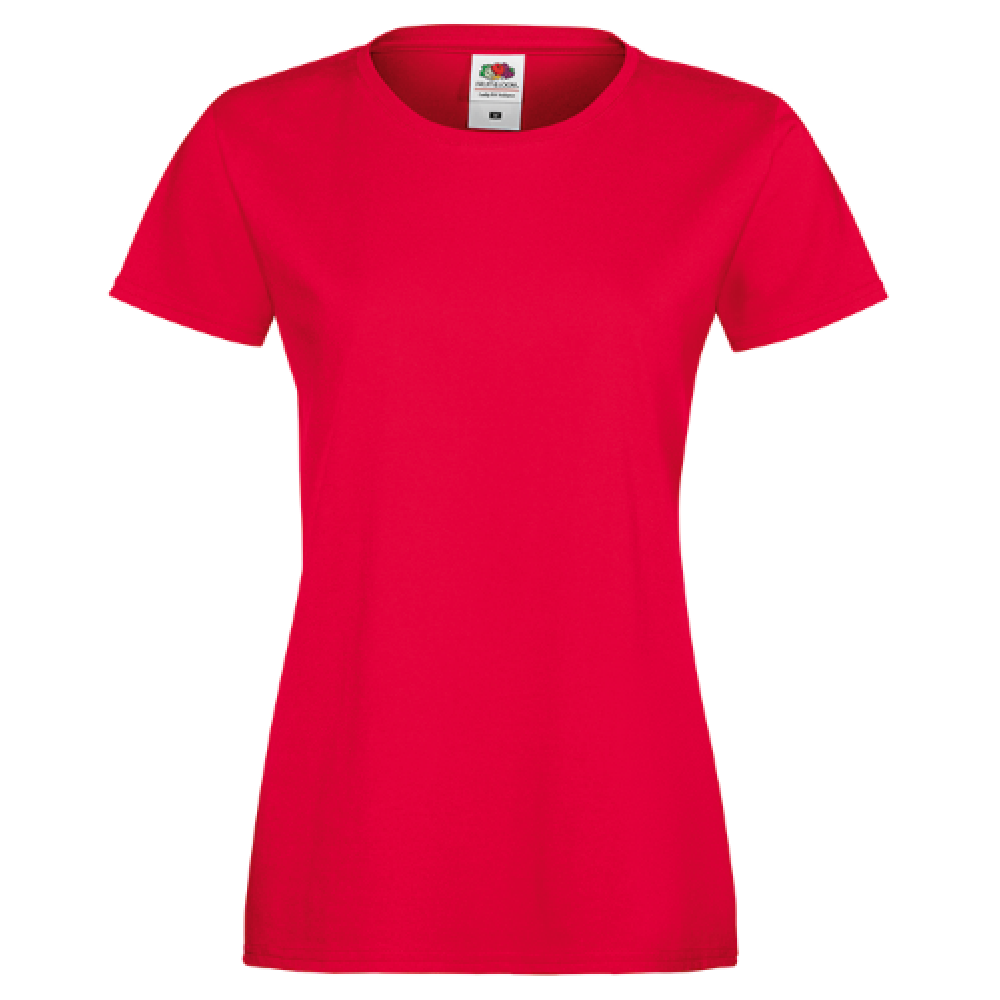 Ladies T-shirt inkl. 1 side frit design-Red-31