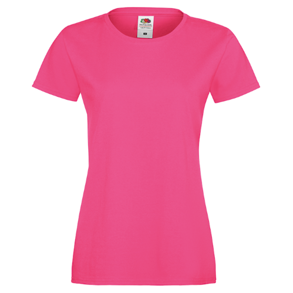Ladies T-shirt inkl. 1 side frit design-Pink-30