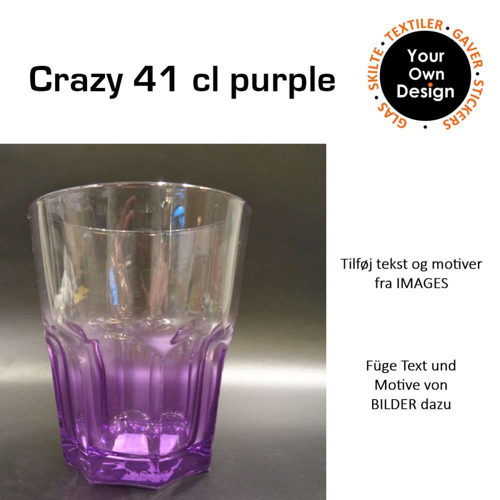 Crazy colours glas Lilla-31