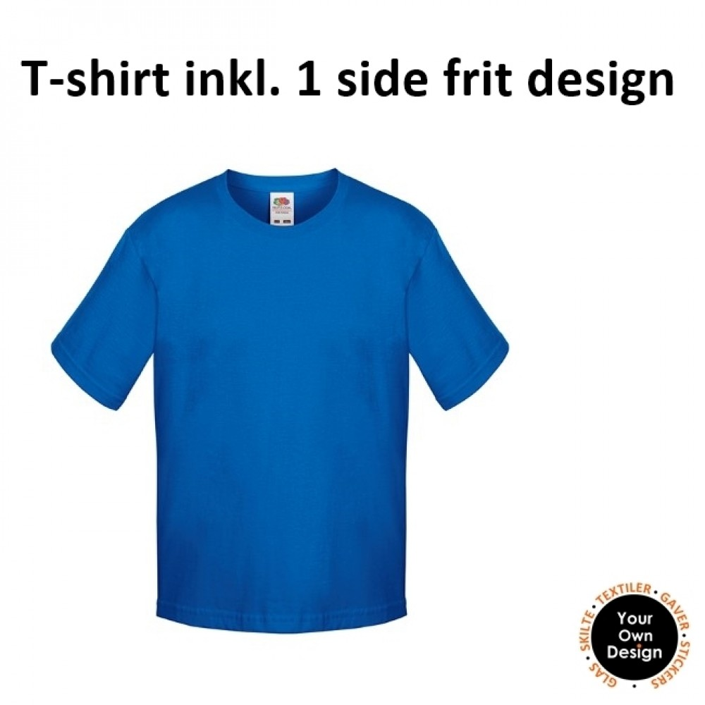 Kids T-shirt inkl. 1 side FRIT Design-Blue-01