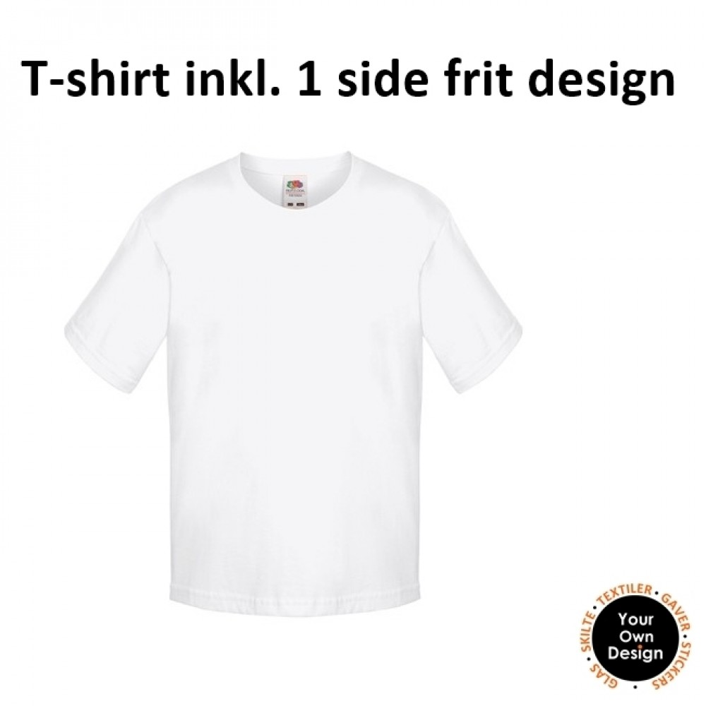 Kids T-shirt inkl. 1 side FRIT Design-White-01