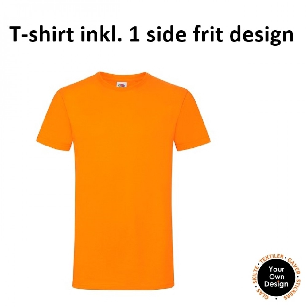 T-shirt inkl. 1 side frit design-Orange-00