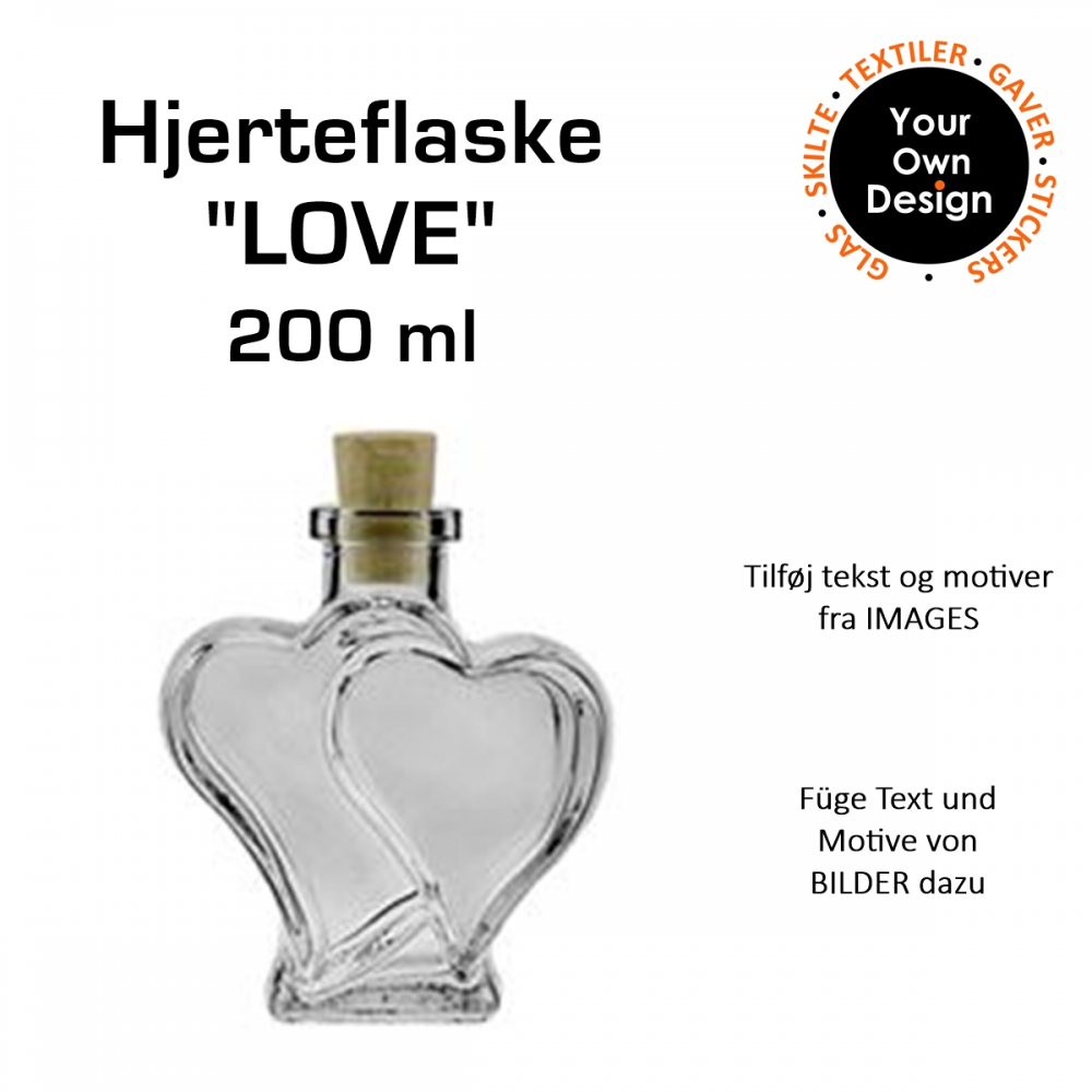 200 ml hjerteflaske LOVE-31