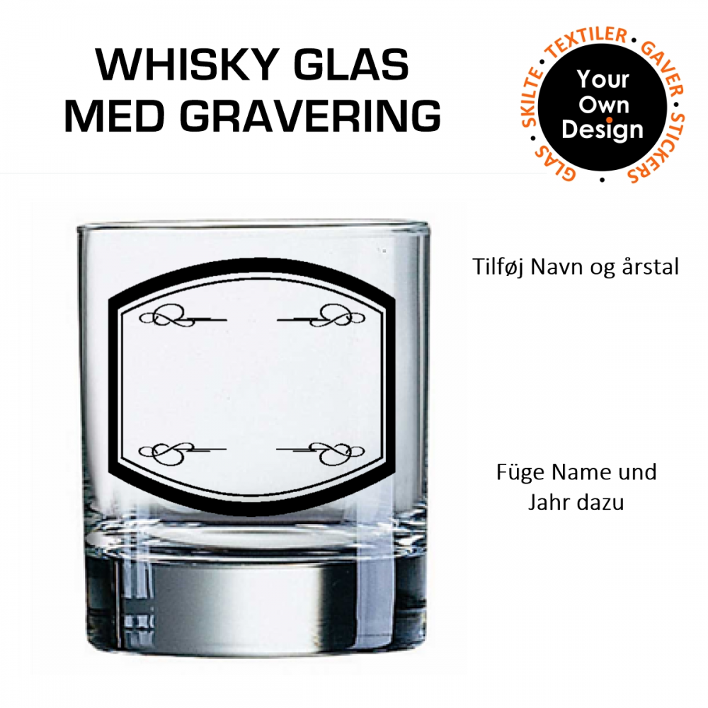 Whiskyglas med gravering 2-31