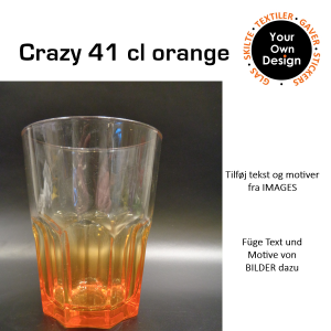 Crazy colours glas Orange-20