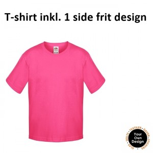 Kids T-shirt inkl. 1 side FRIT Design-Pink-20
