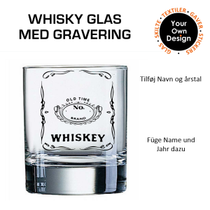 Whiskyglas med gravering 1-20