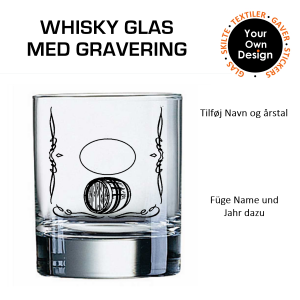 Whiskyglas med gravering 3-20