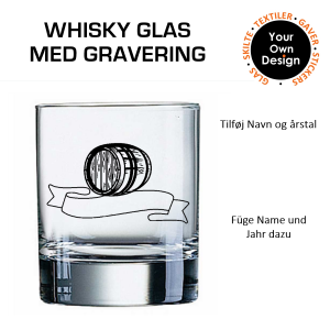 Whiskyglas med gravering 7-20